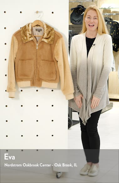 Astrid Two Tone Faux Fur Bomber Jacket, sales video thumbnail
