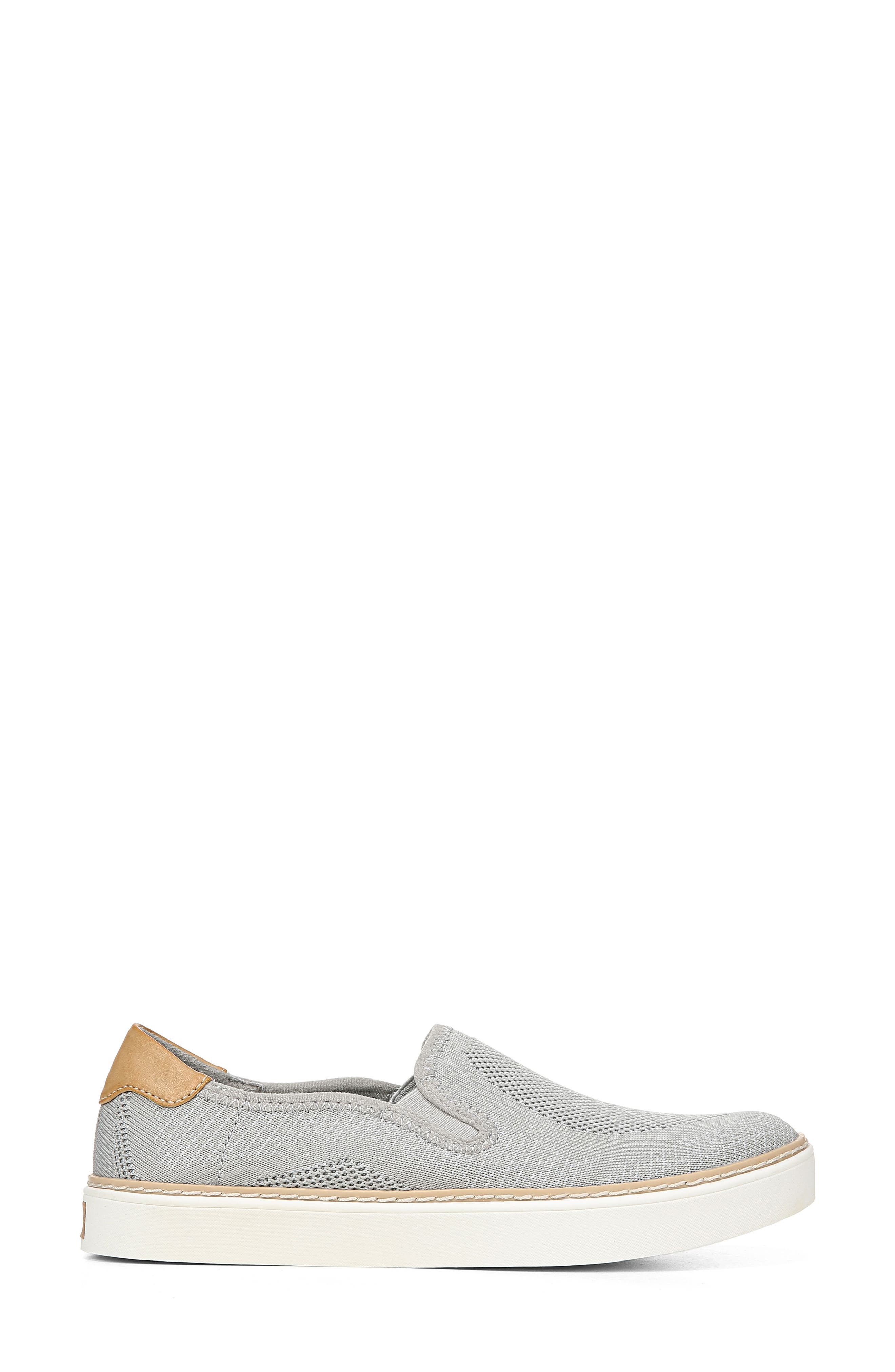 ,                             Madi Slip-On Sneaker,                             Alternate thumbnail 3, color,                             GREY KNIT FABRIC