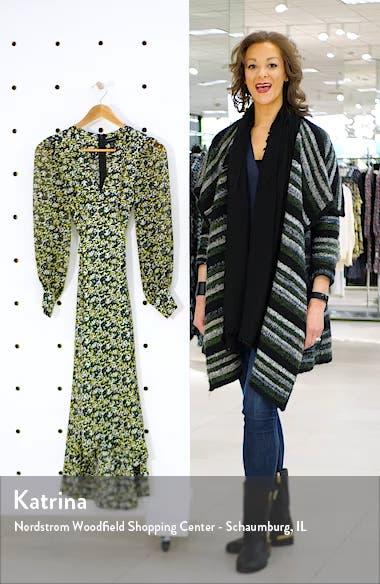 IDOL Floral Print Long Sleeve High/Low Dress, sales video thumbnail