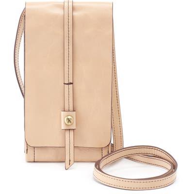 Hobo Token Smartphone Crossbody Bag - Beige