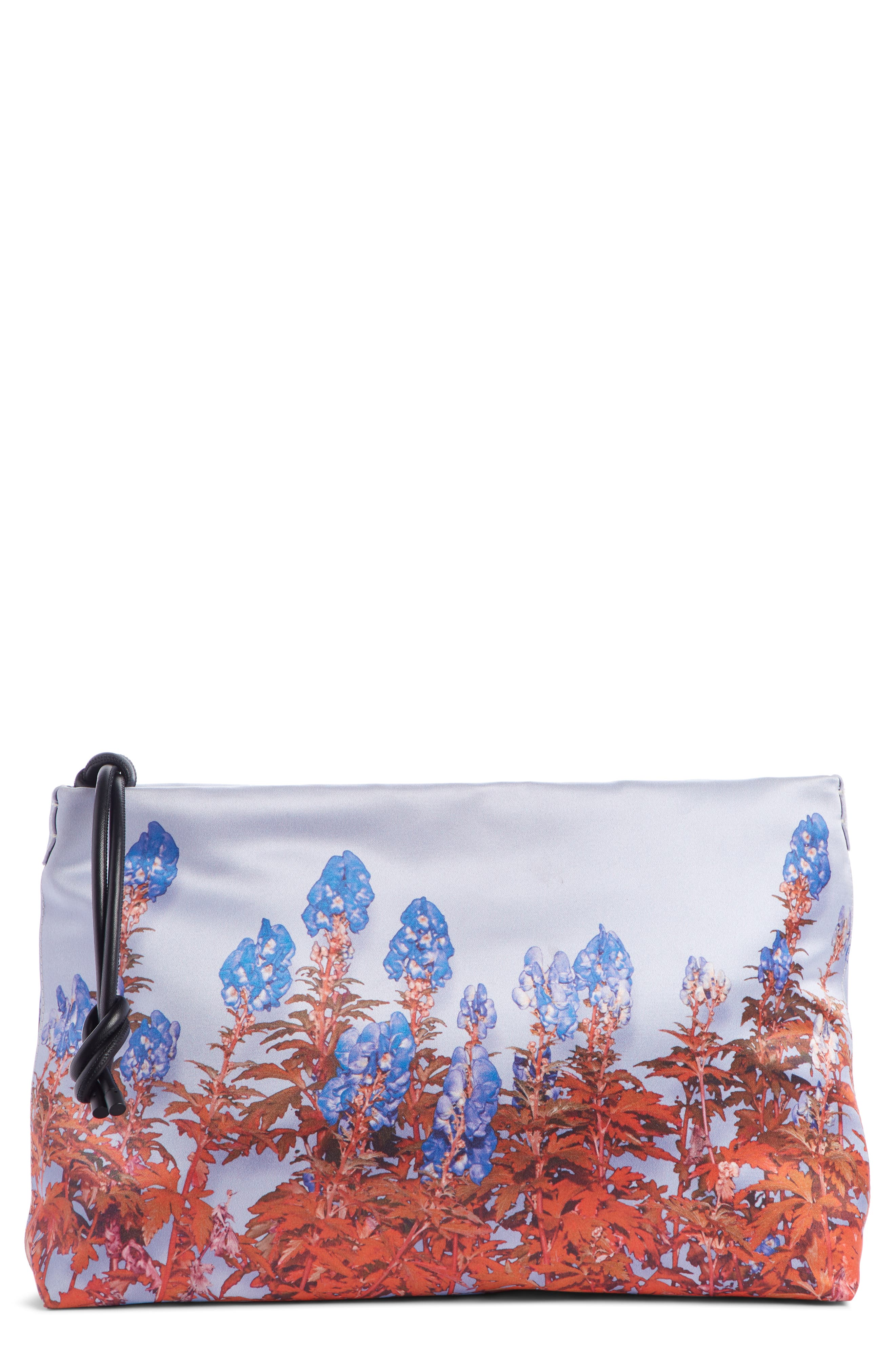 Dries Van Noten Clutch Floral Print Satin Clutch