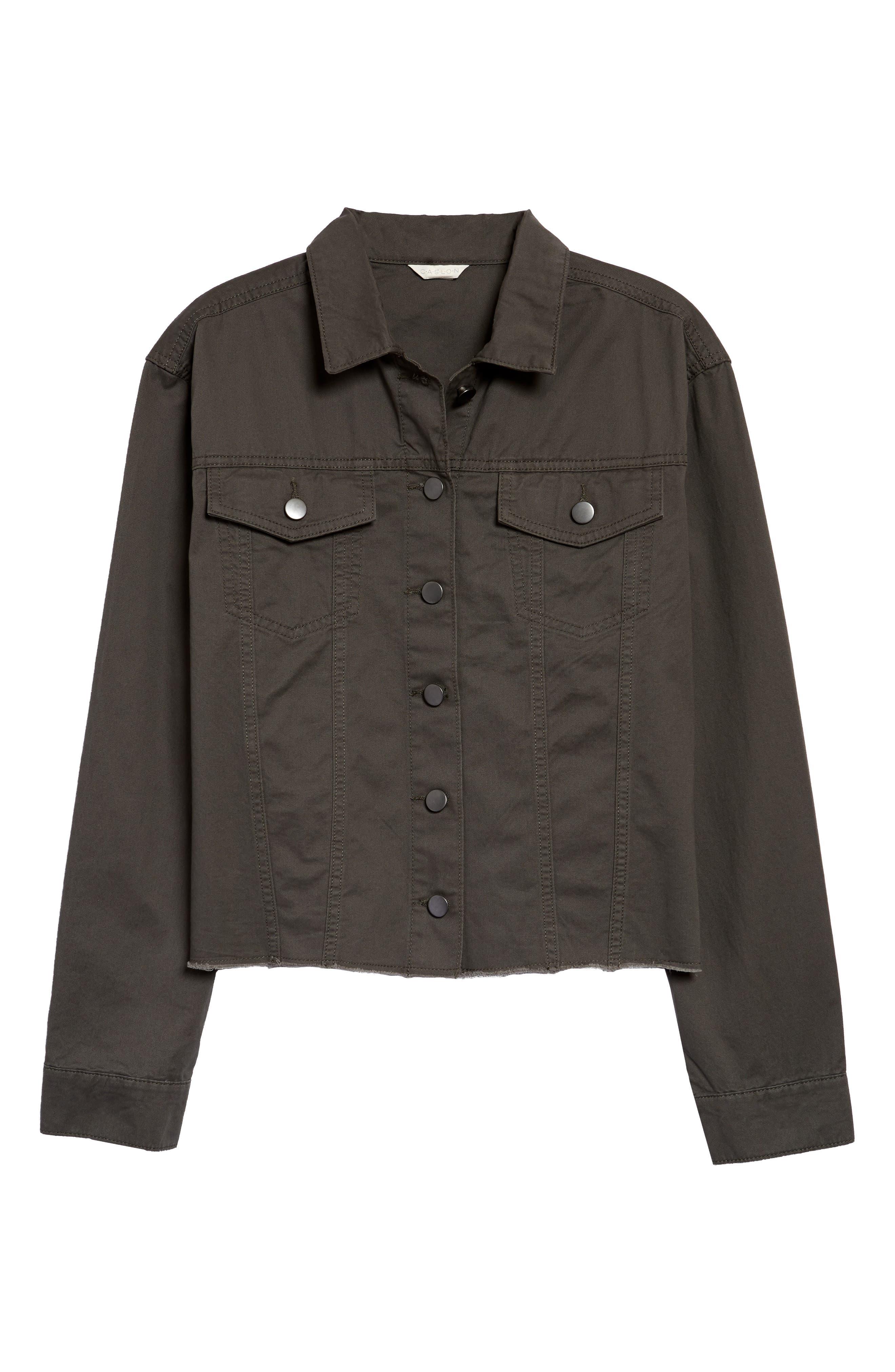 Image of Caslon Fringe Twill Jacket