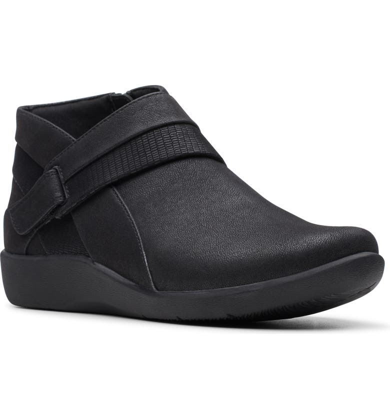 CLARKS<SUP>®</SUP> Sillian Rani Bootie, Main, color, BLACK FABRIC