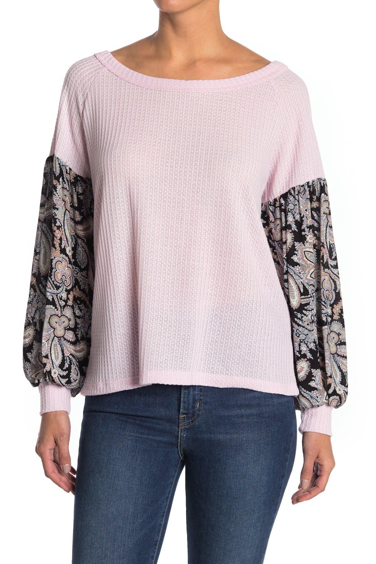 Image of Baea Boho Thermal Blouson Sleeve Shirt