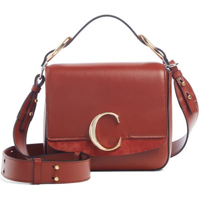 Chloe Small C Convertible Leather Bag - Brown
