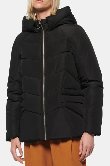 Image of Andrew Marc Yorkshire Hooded Sporty Puffer Jacket