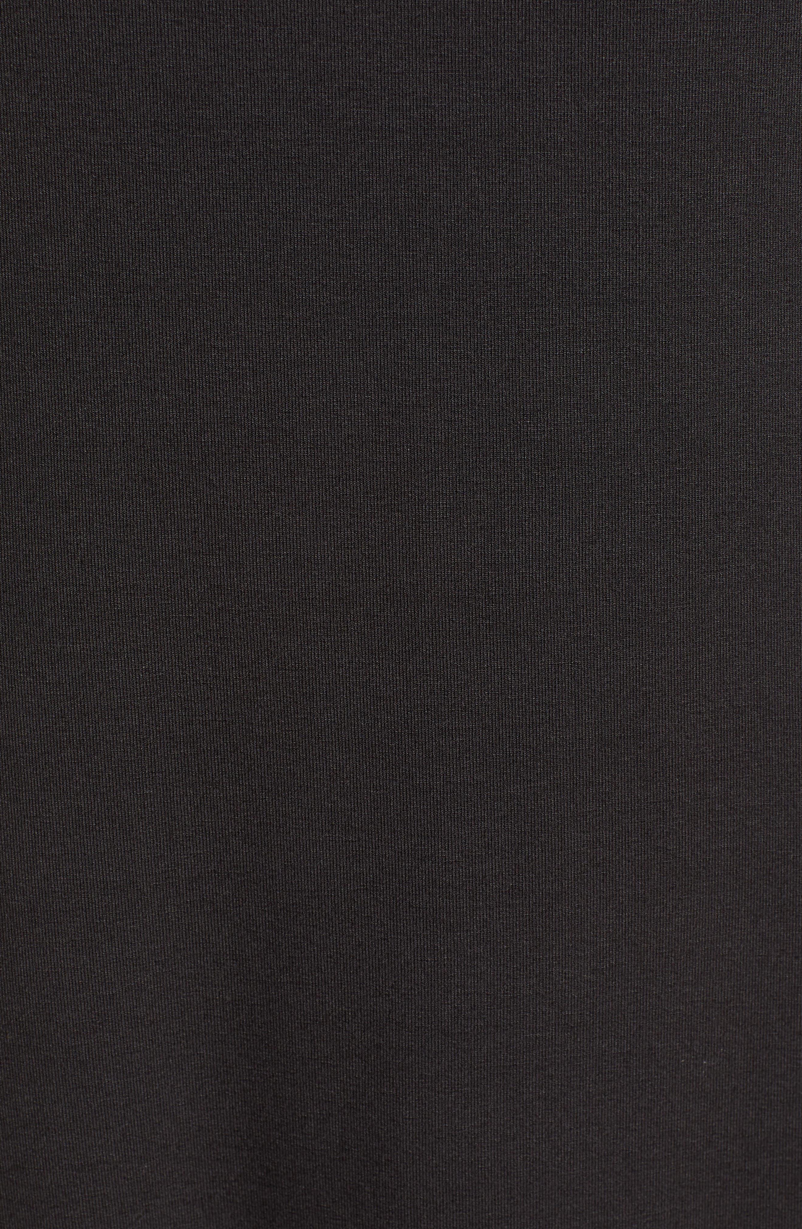 ,                             Tambour Midi Dress,                             Alternate thumbnail 4, color,                             BLACK
