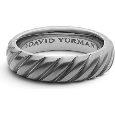 David Yurman Cable Band Ring In Titanium