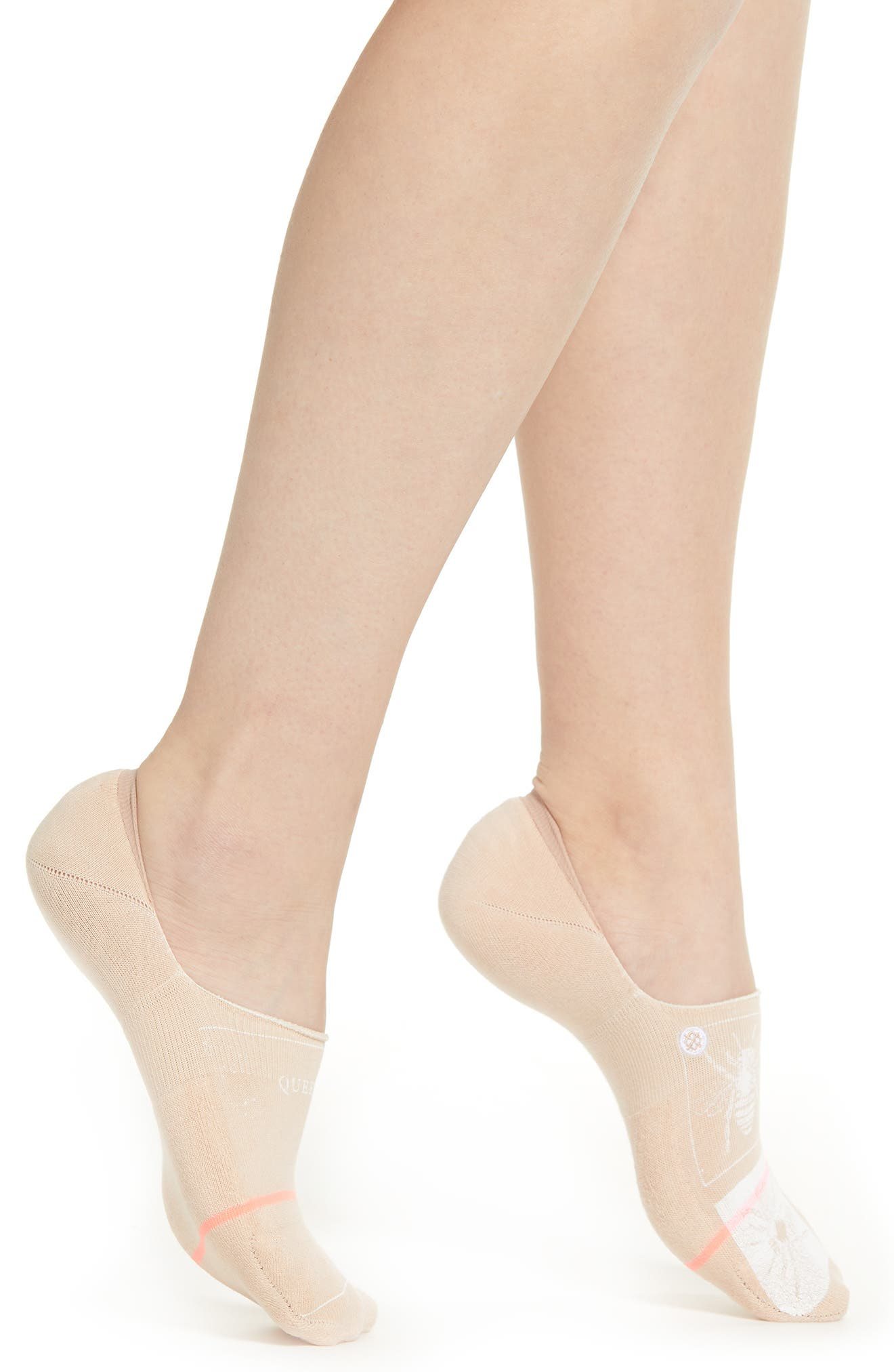 Stance Queen Bee No Show Socks in Natural