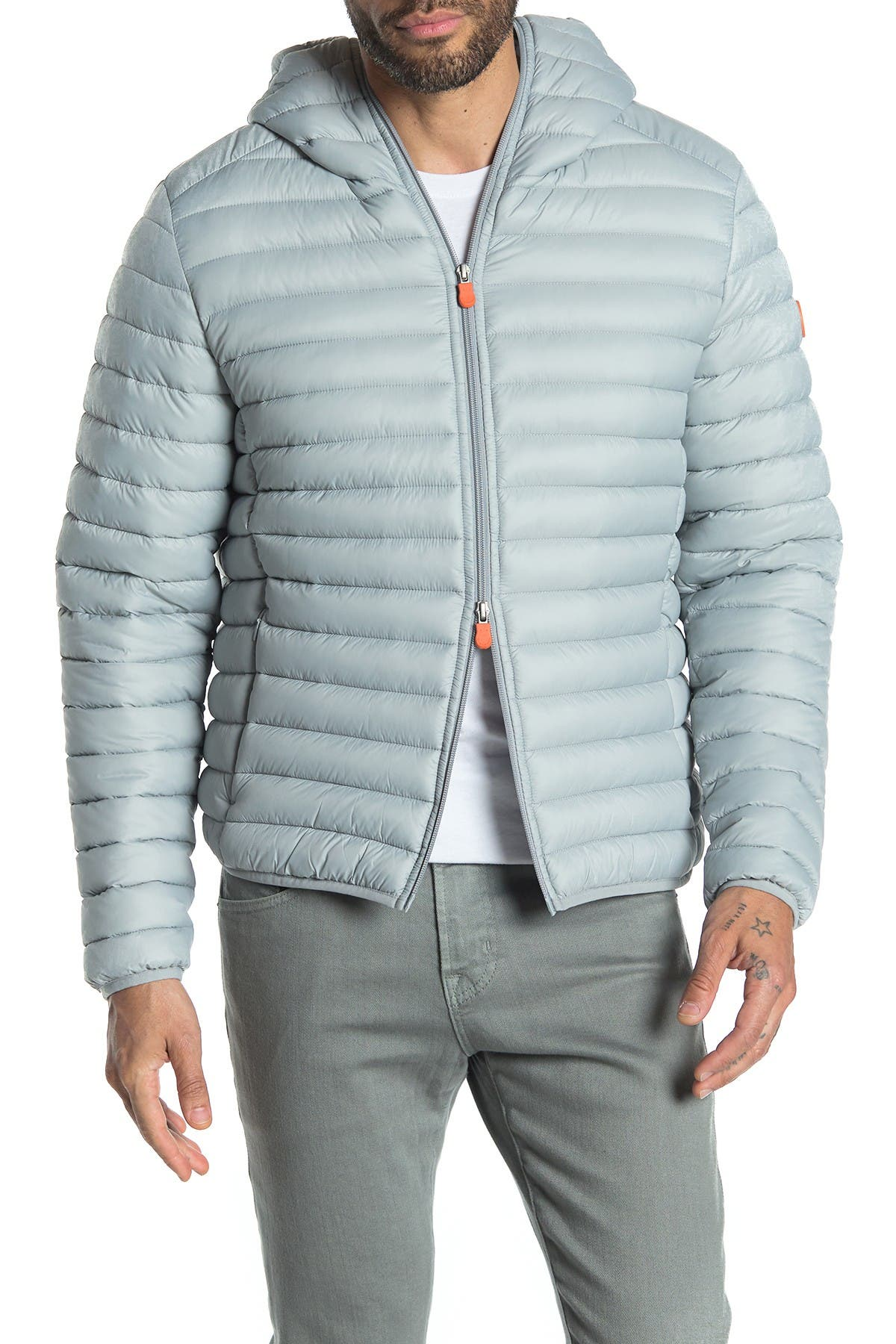 Save The Duck WATER-REPELLENT PACKABLE HOODED QUILTED PUFFER JACKET