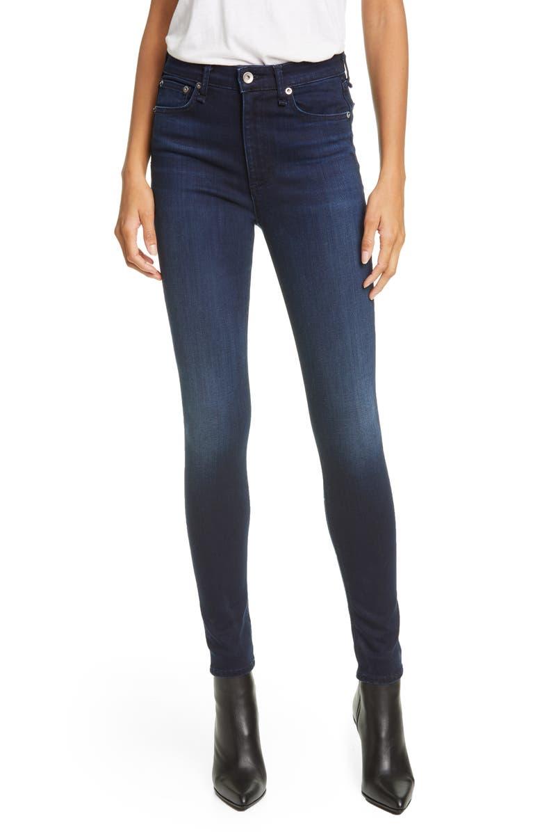 RAG & BONE Nina High Waist Skinny Jeans, Main, color, NEW GATE