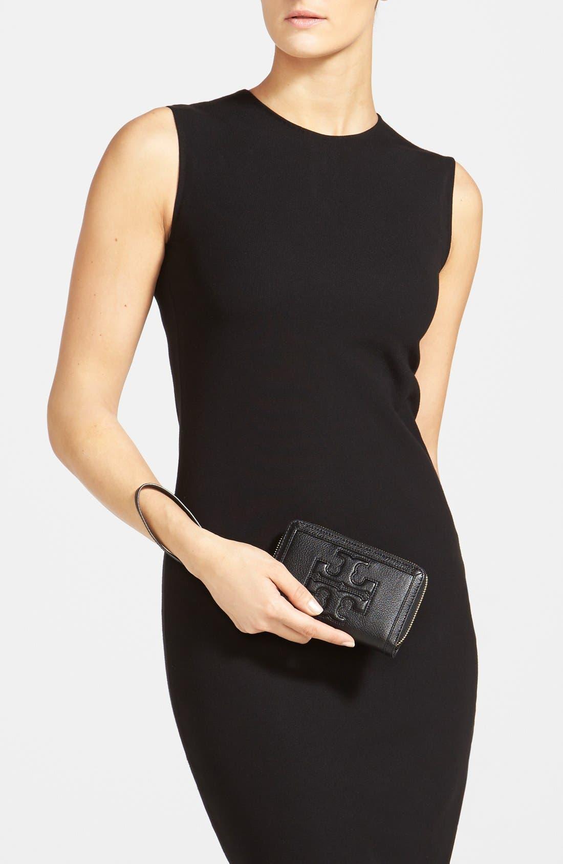 ,                             'Jessica' Leather Smartphone Wristlet,                             Alternate thumbnail 3, color,                             001