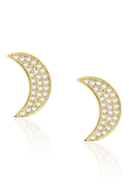 Image of CENTRAL PARK JEWELRY Moon Stud Earrings