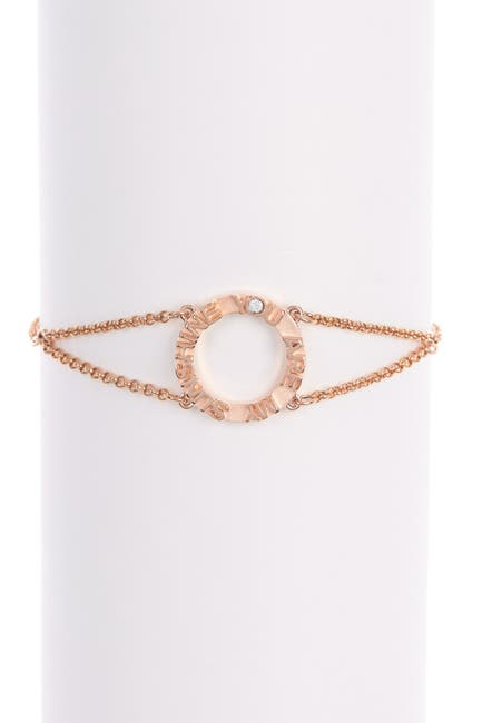 Image of Swarovski 18K Rose Gold Admiration CZ Bracelet