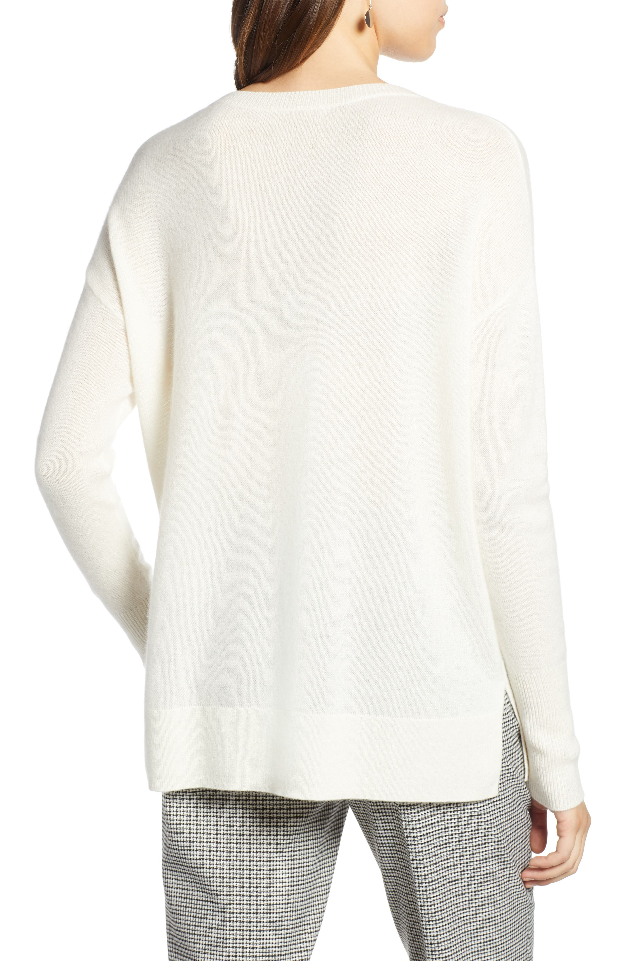 ,                             Relaxed V-Neck Cashmere Sweater,                             Alternate thumbnail 80, color,                             900