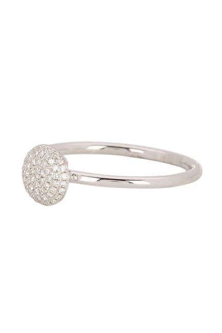 Image of Ron Hami 14K White Gold Pave Diamond Disc Ring - 0.11 ctw
