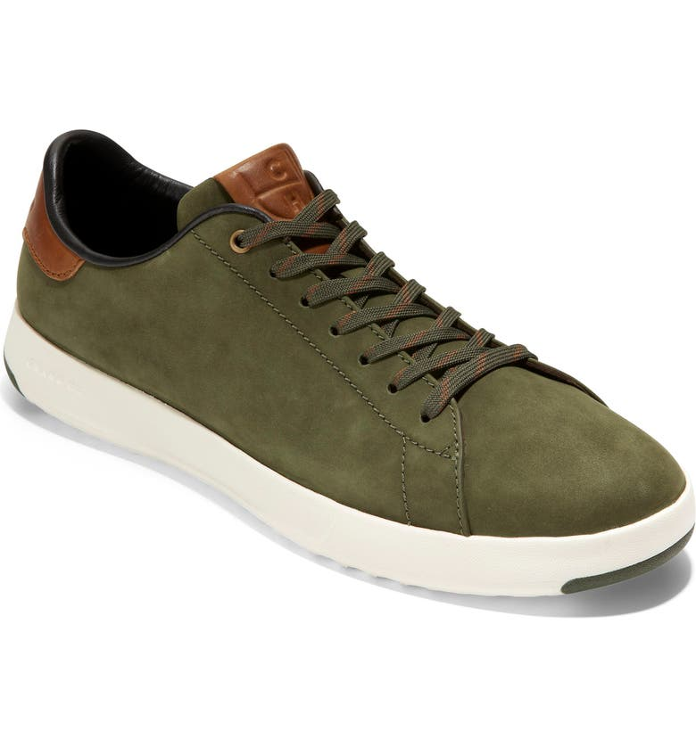 COLE HAAN GrandPro Low Top Sneaker, Main, color, GREEN NUBUCK/ DUFFLE BAG