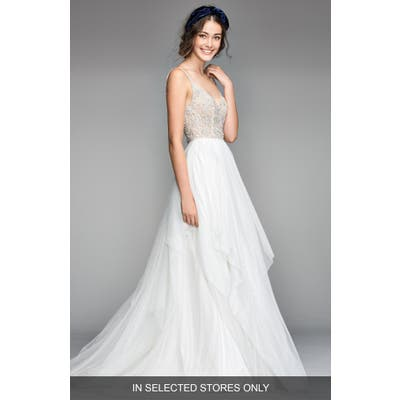 Willowby Nova Beaded Bodice Tulle Gown