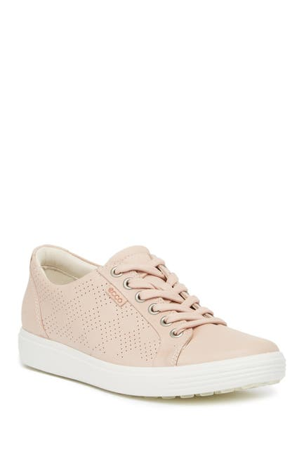 Image of ECCO Soft 7 Leather Perforated Sneaker