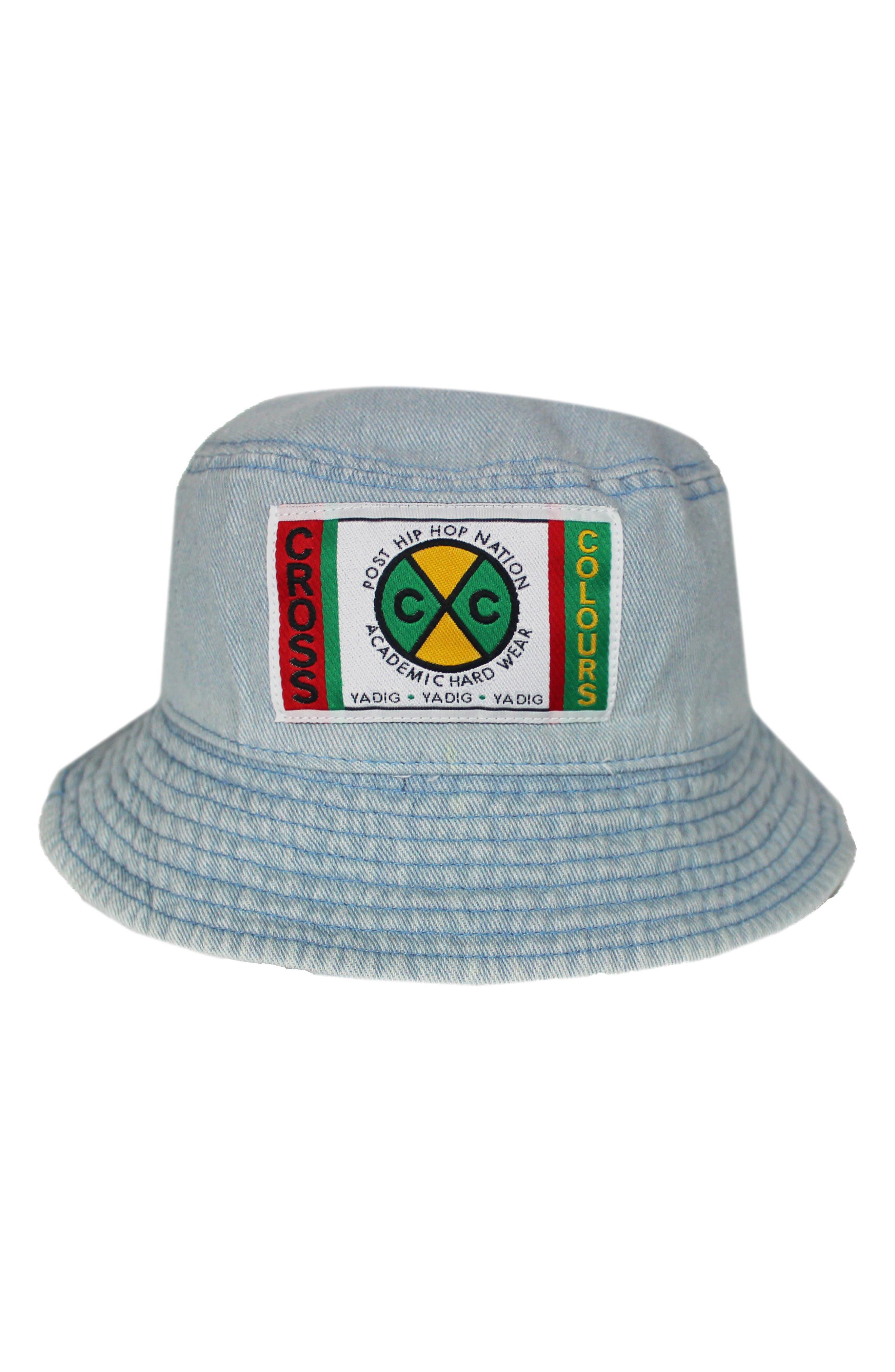 Label Logo Unisex Denim Bucket Hat