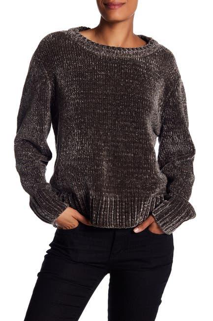 Image of Blanc Noir Crew Neck Chenille Sweater