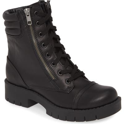 Mia Nelson Lace-Up Boot- Black