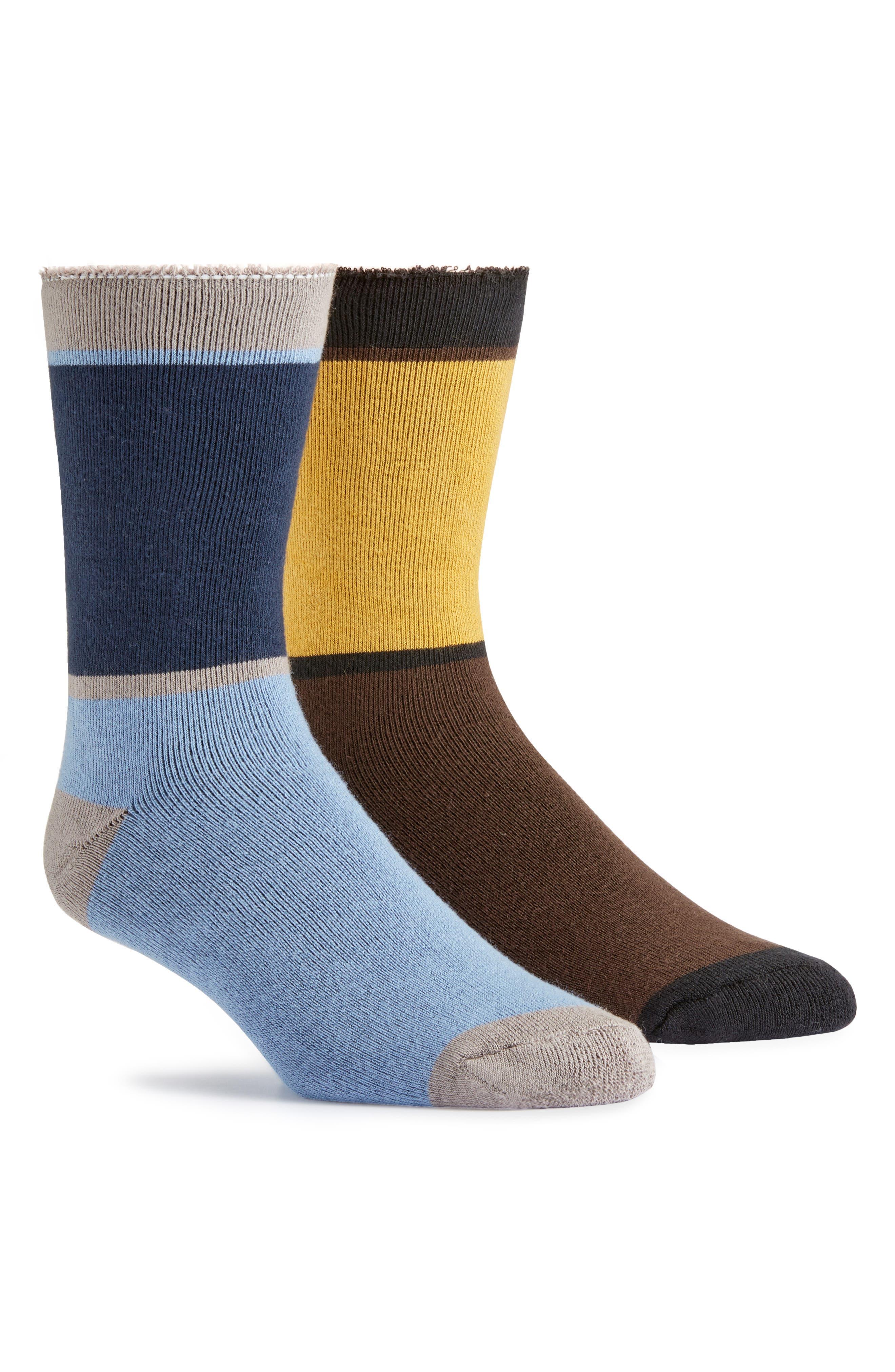 Snugglesocks Assorted 2-Pack Organic Cotton Blend Socks