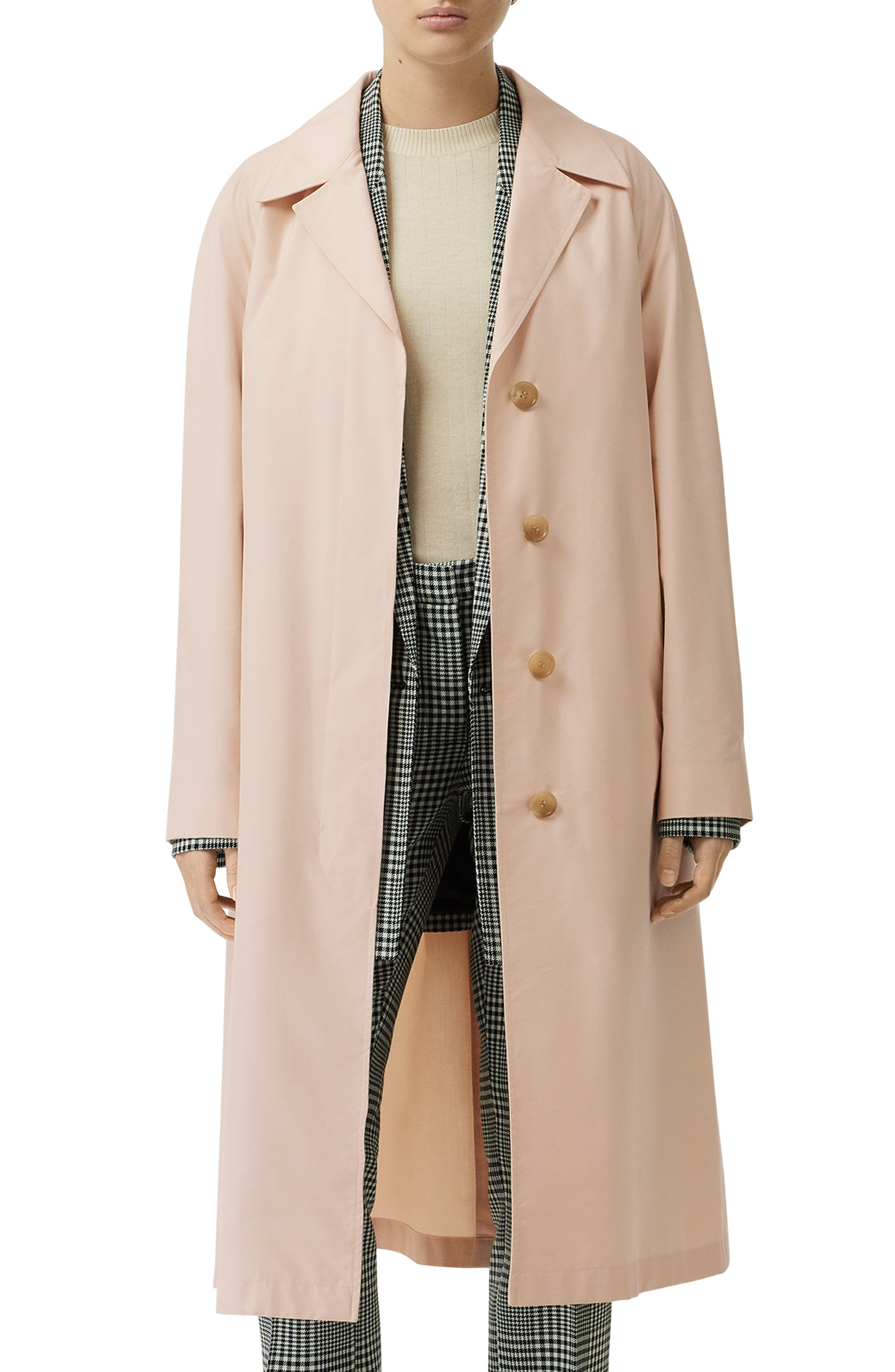 ,                             Edenderry Trench Coat,                             Main thumbnail 1, color,                             CHALK PINK CHECK