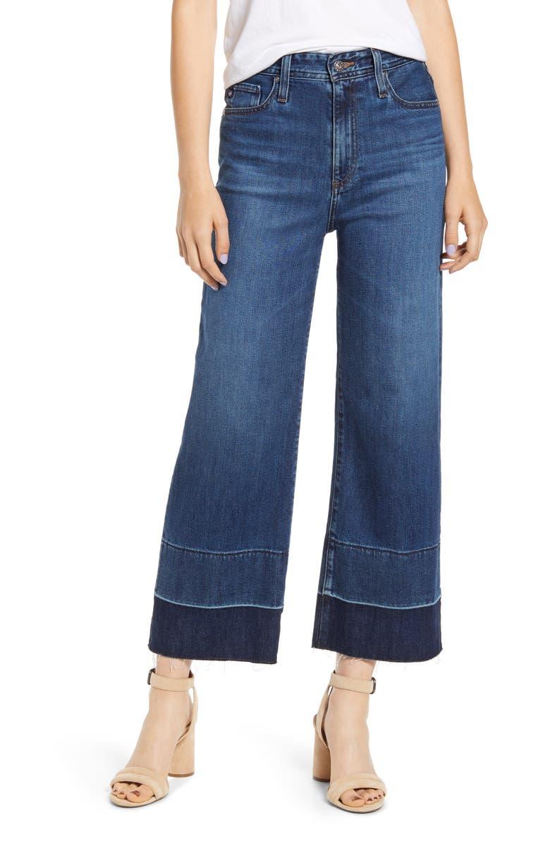 AG Etta High Waist Crop Wide Leg Jeans, Main, color, BLUE GLORY