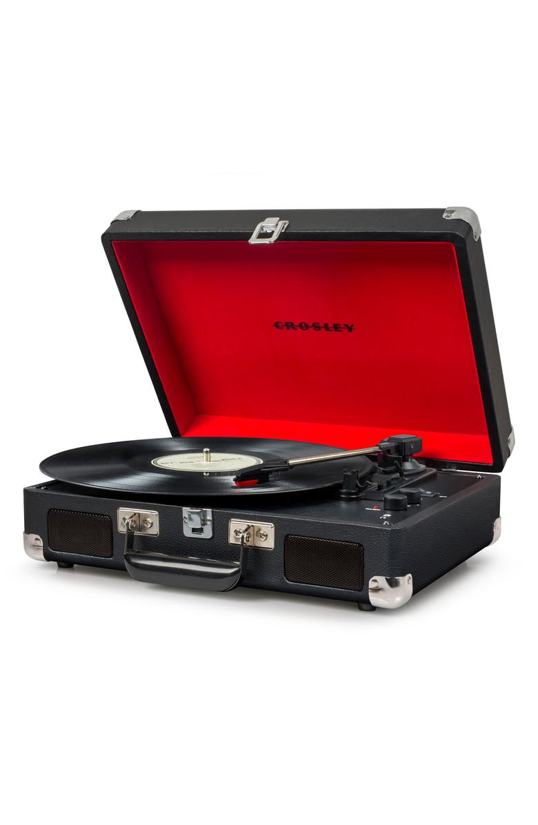 CROSLEY RADIO Cruiser Deluxe Turntable, Main, color, BLACK