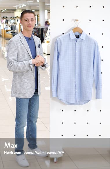 Tech Smart Traditional Fit Stretch Plaid Dress Shirt, sales video thumbnail