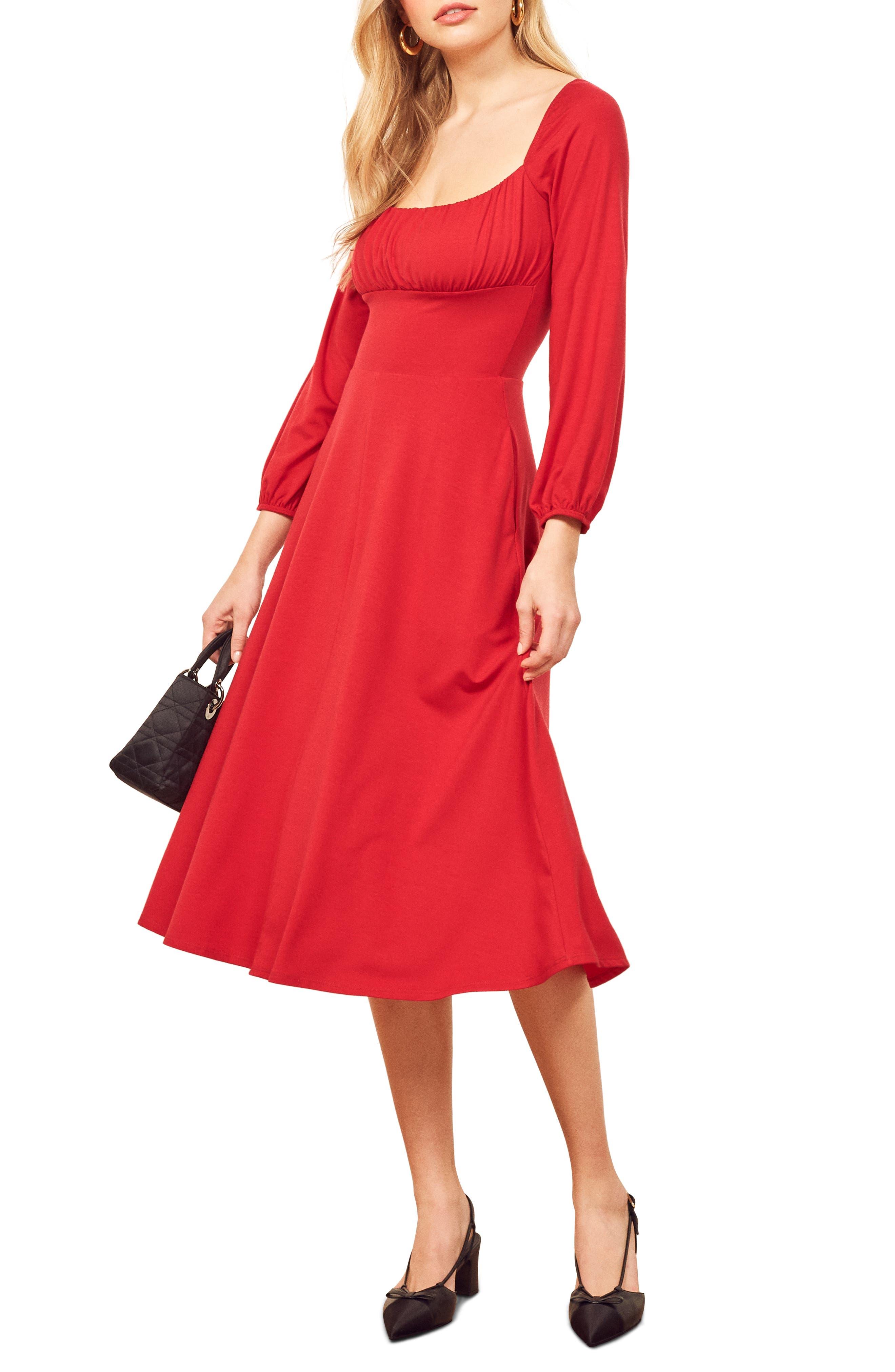Reformation Pippa Dress, Red
