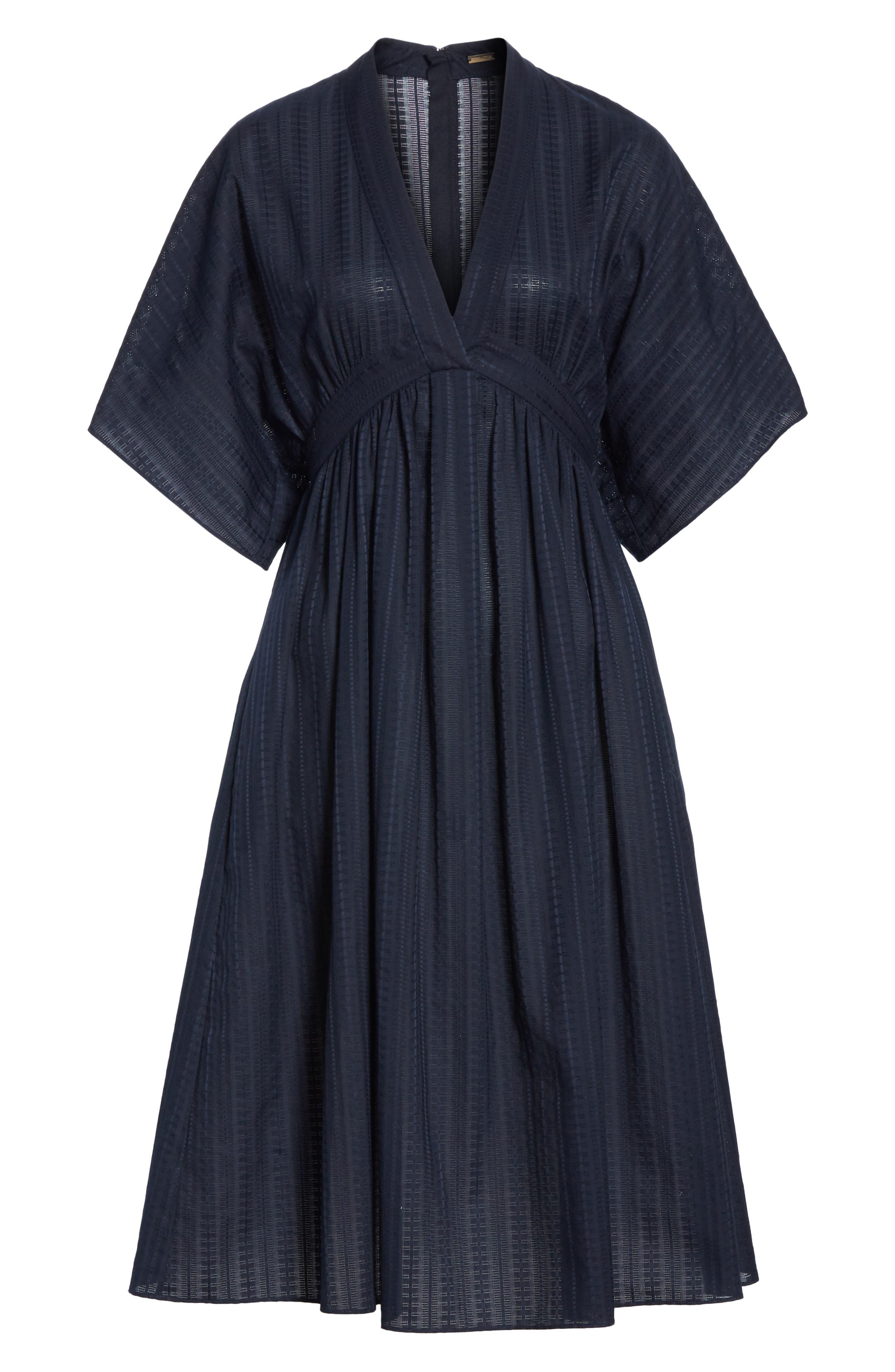 ,                             Swiss Voile Dress,                             Alternate thumbnail 6, color,                             NAVY