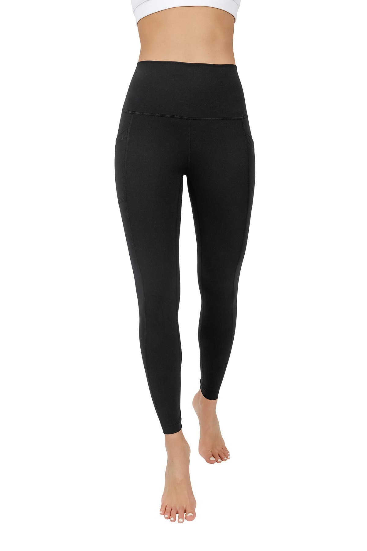 Image of 90 Degree By Reflex Superflex High Rise Elastic Free Pocket Ankle Leggings