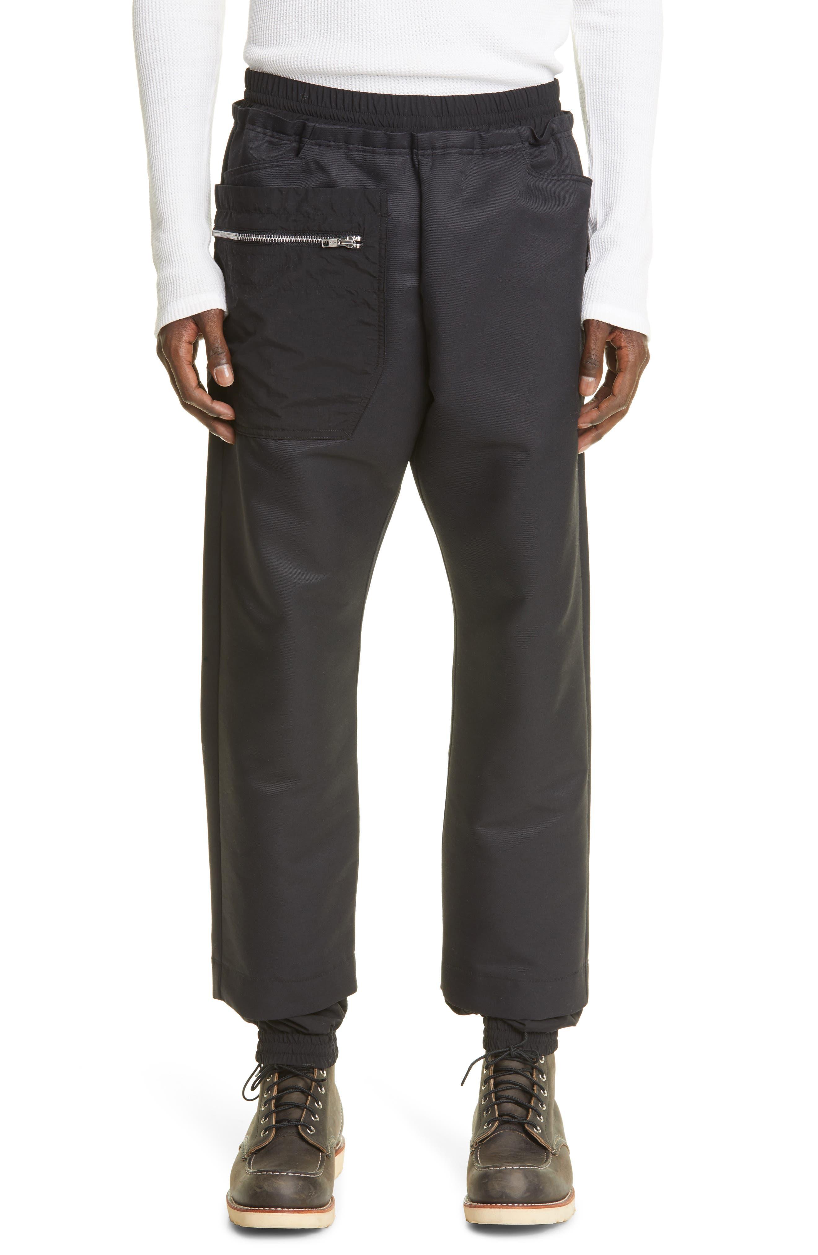 Esko Wool Blend Track Trousers