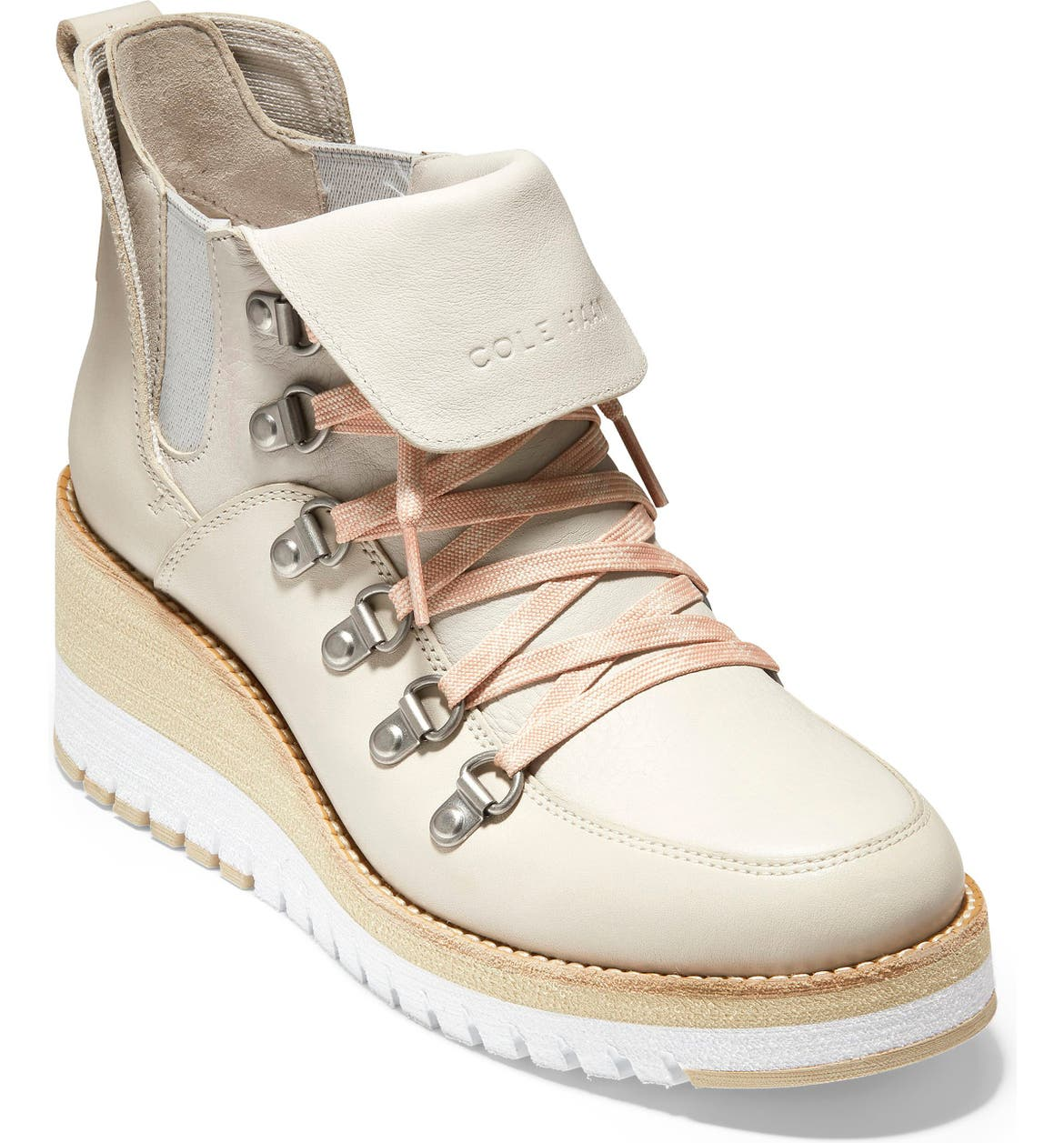 COLE HAAN ZeroGrand Waterproof Wedge Hiker Boot, Main, color, PUMICE STONE LEATHER