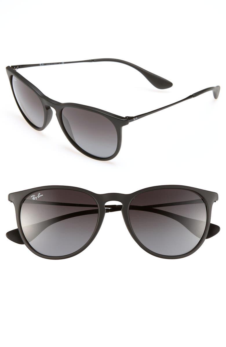 RAY-BAN Erika Classic 54mm Sunglasses, Main, color, BLACK/ GREY GRADIENT