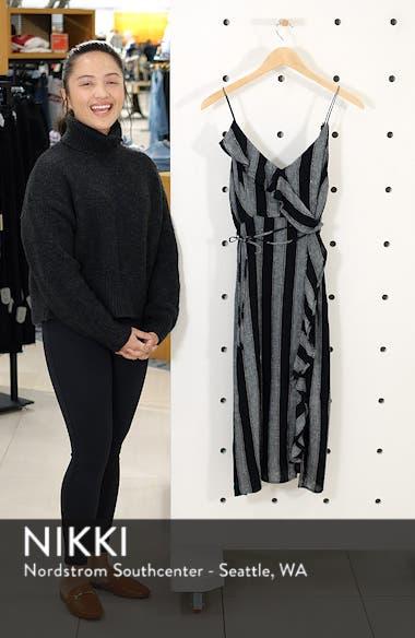 Ariel Stripe Faux Wrap Dress, sales video thumbnail