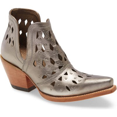 Ariat Dixon Perforated Studded Bootie, Grey