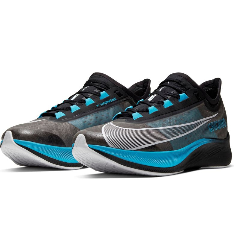 NIKE Zoom Fly 3 Chicago Marathon Running Shoe, Main, color, BLACK/ WHITE/ BLUE/ GREY