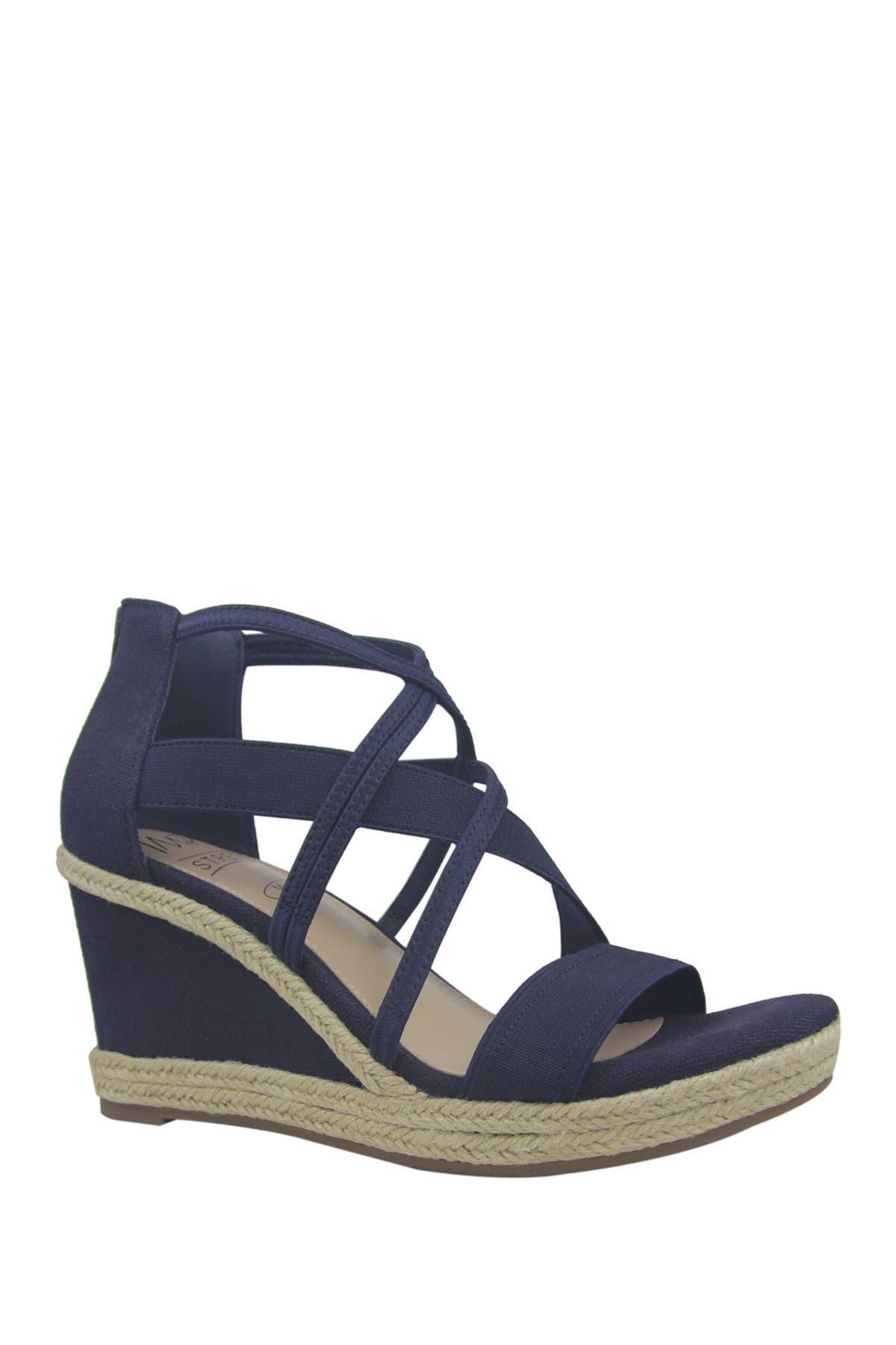 Image of Impo Tacara Stretch Memory Foam Espadrille Platform Wedge Sandal