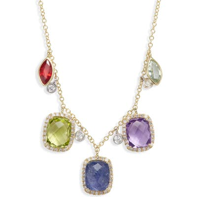 Meira T Semiprecious Stone & Diamond Necklace
