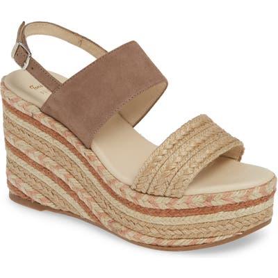 Toni Pons Peru Platform Wedge Sandal, Beige