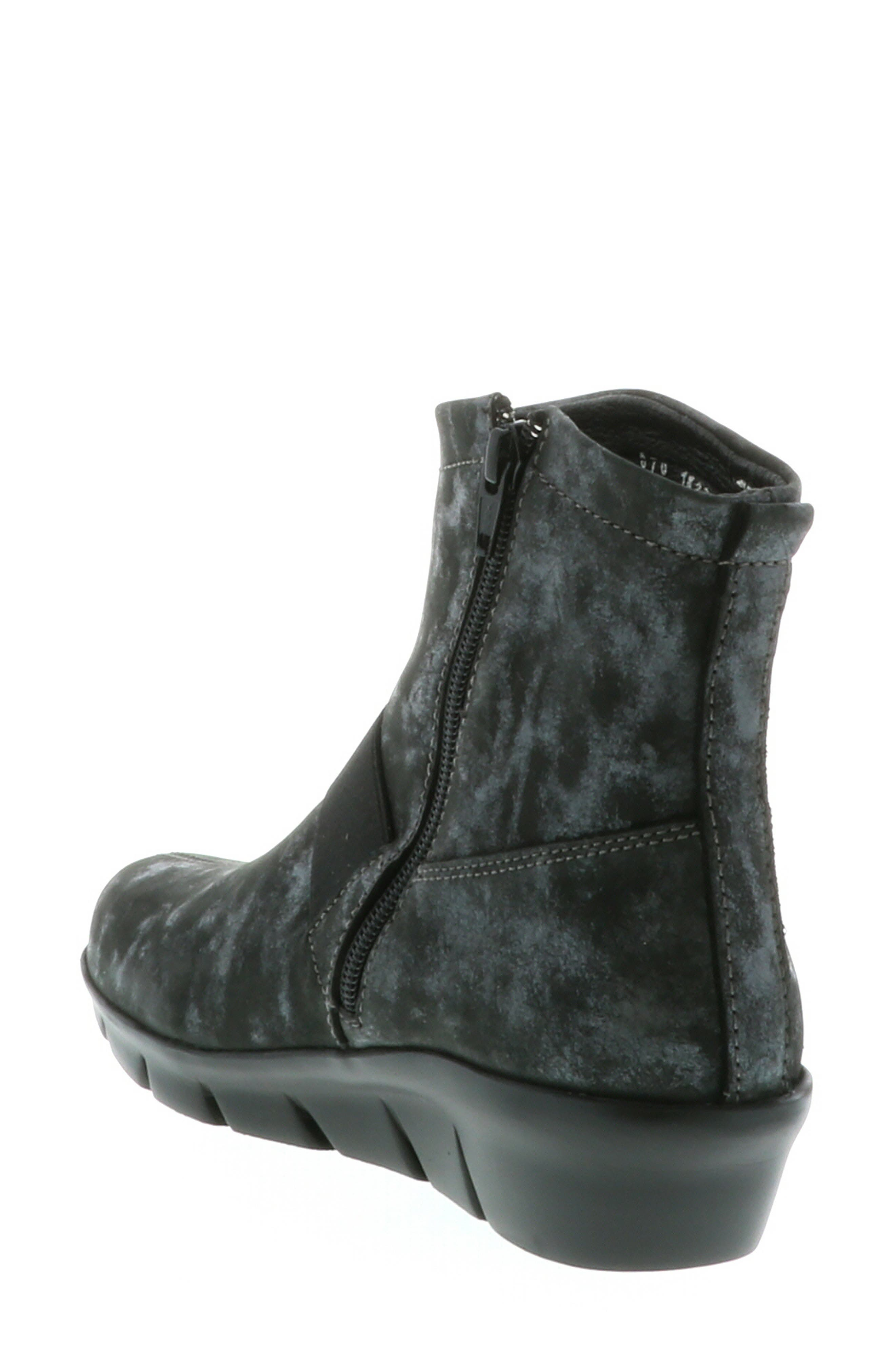 ,                             Omni Wedge Bootie,                             Alternate thumbnail 2, color,                             BLACK NUBUCK LEATHER