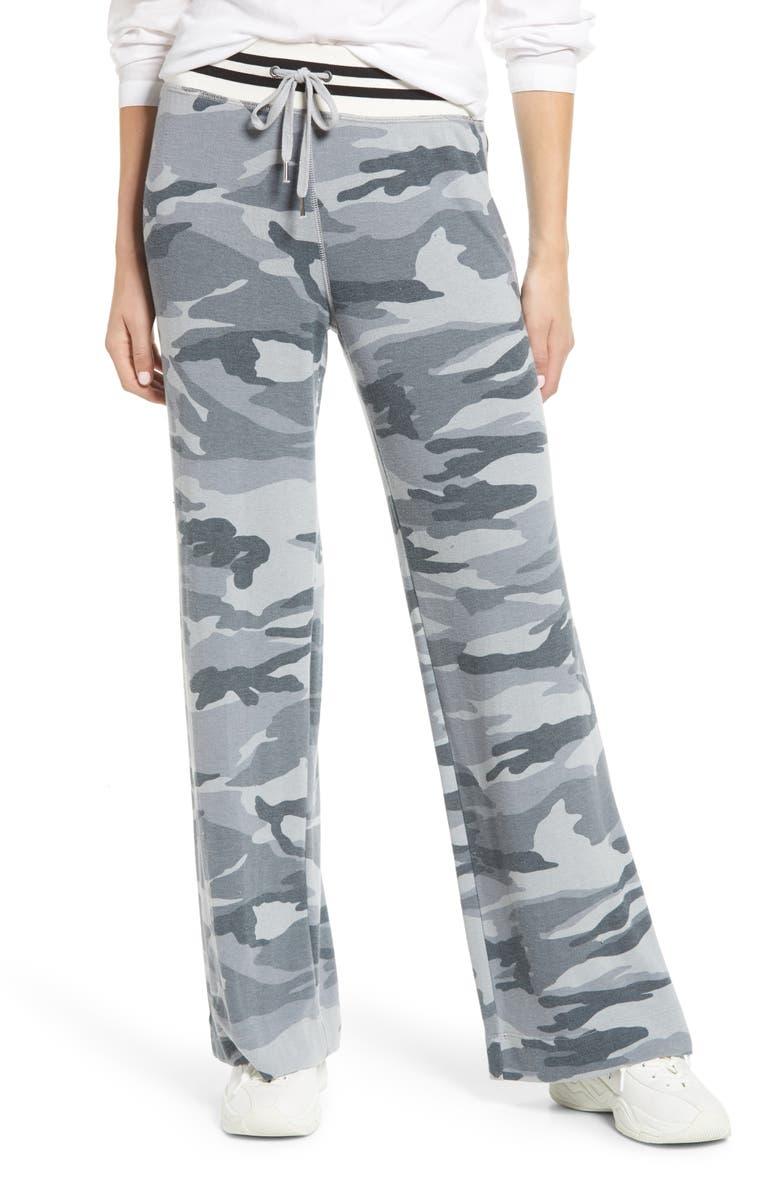 SPLENDID Camo Print Sweatpants, Main, color, SMOKEY BLUE