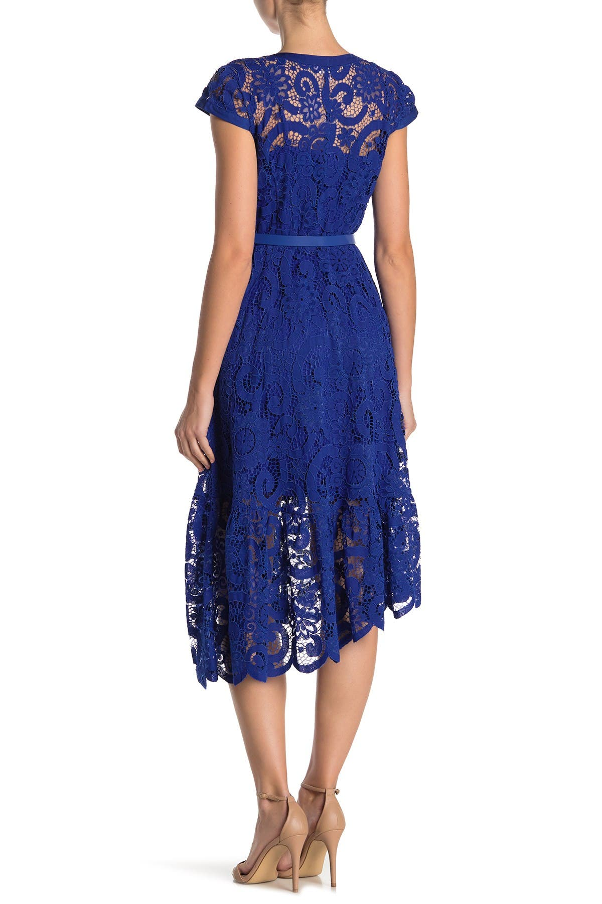 Image of NANETTE nanette lepore Cap Sleeve Lace Dress