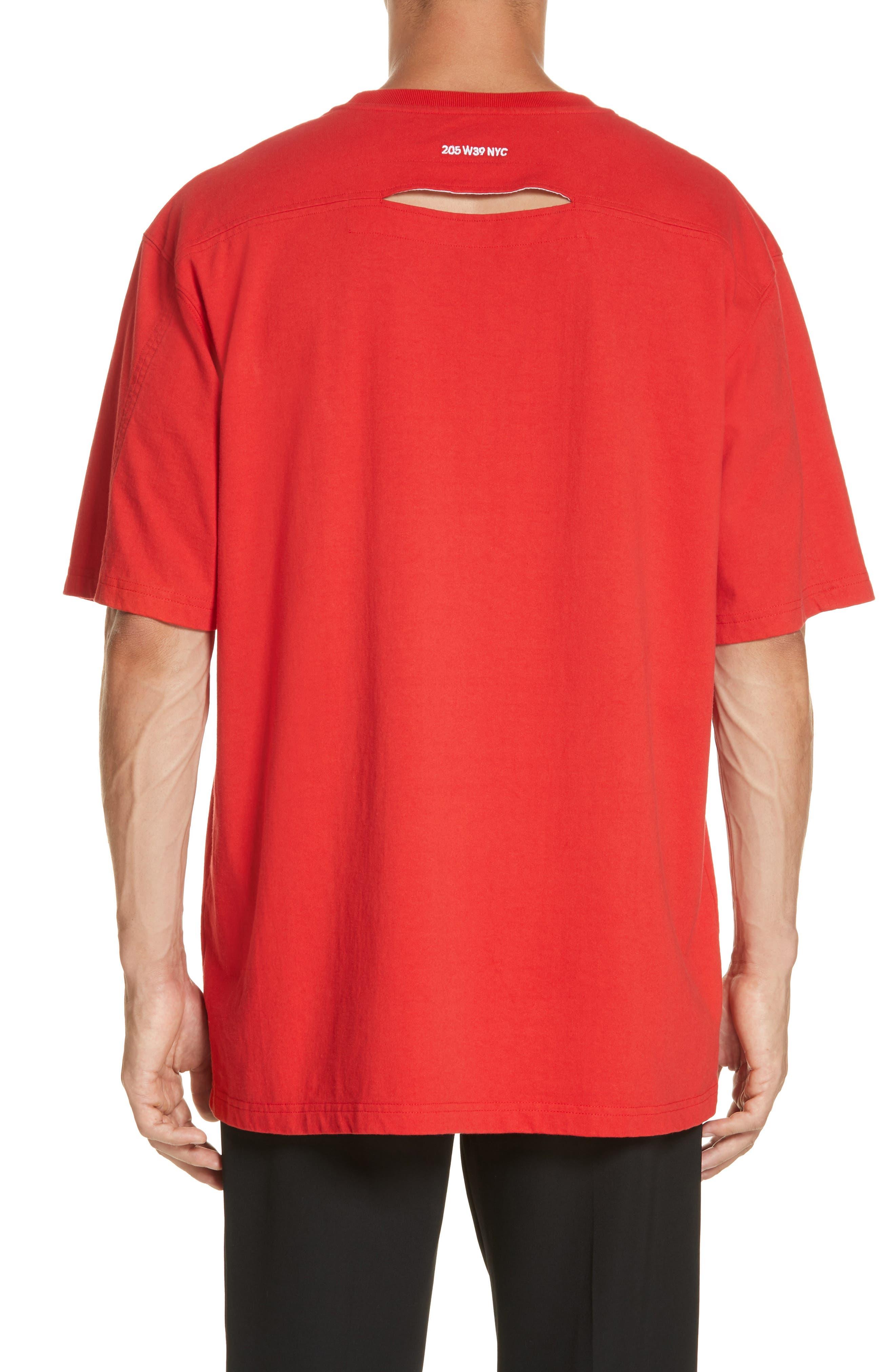 ,                             Oversize T-Shirt,                             Alternate thumbnail 2, color,                             RED