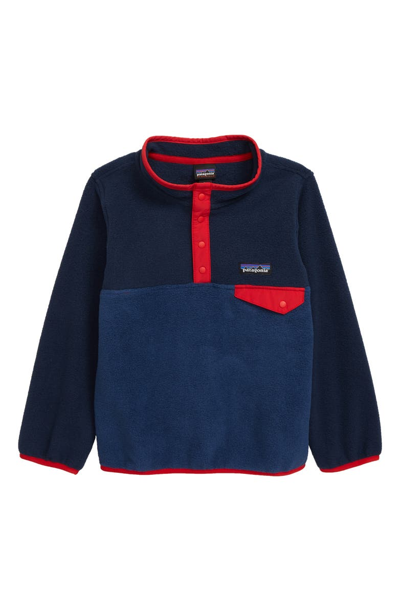 PATAGONIA Synchilla<sup>®</sup> Snap-T<sup>®</sup> Fleece Pullover, Main, color, STONE BLUE/ NEW NAVY