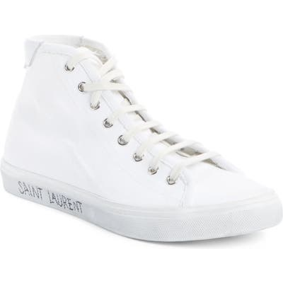 Saint Laurent Malibu Sneaker, White