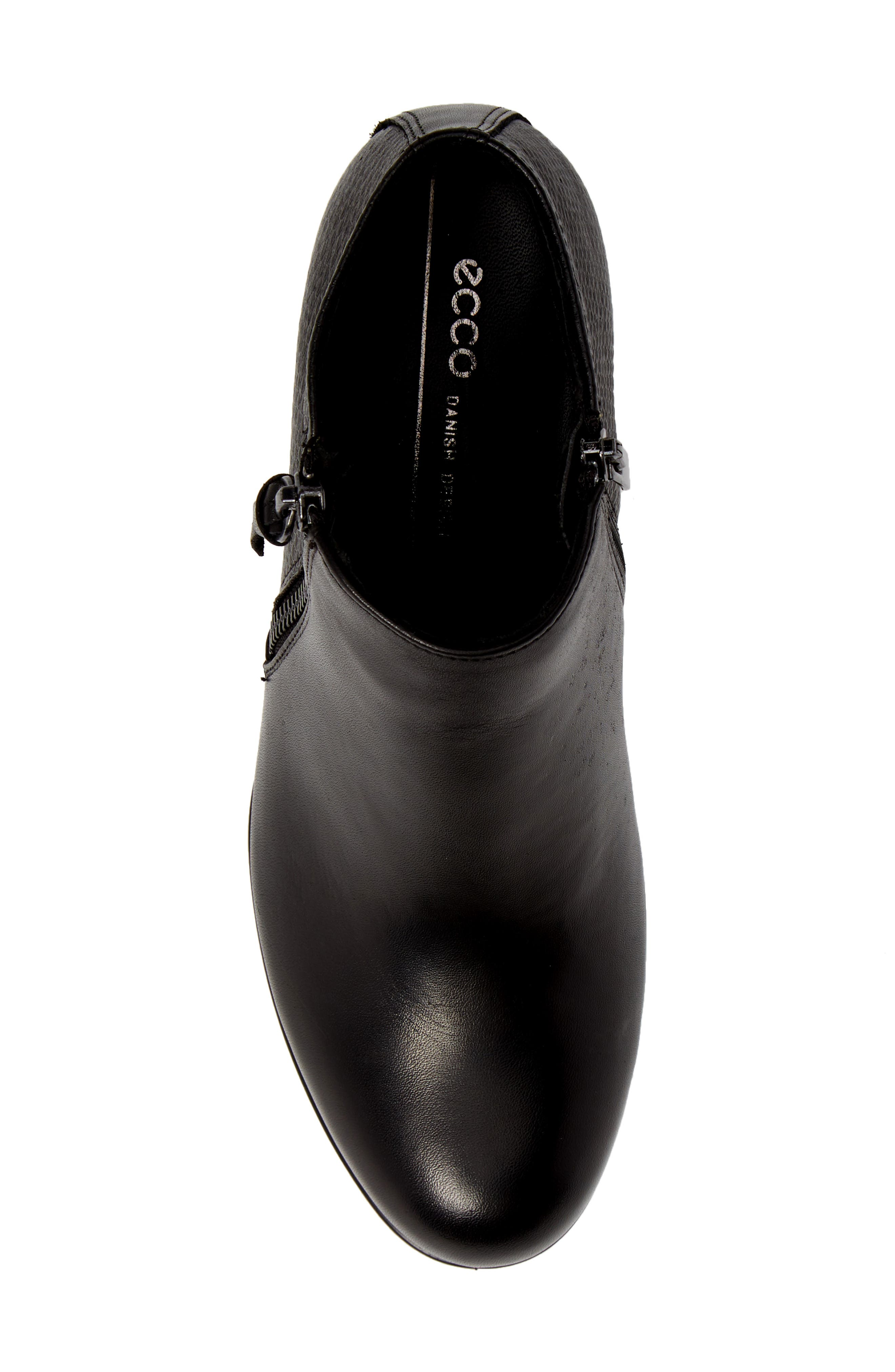 ,                             Shape 35 Ankle Bootie,                             Alternate thumbnail 5, color,                             BLACK LEATHER